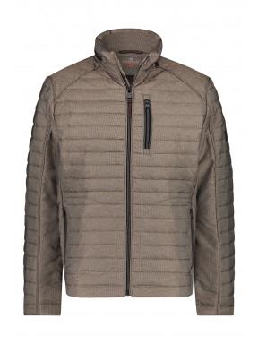 Regular-fit-short-jacket---sepia-plain