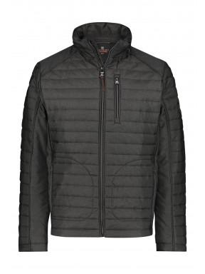 Regular-fit-short-jacket---dark-brown-plain