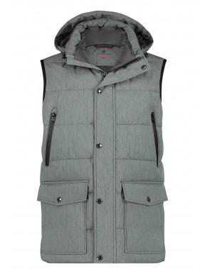 Body-warmer-with-mélange-print---medium-grey-plain
