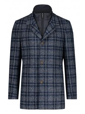 Jacket-Checked---dark-blue/silvergrey