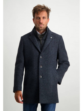 Striped-jacket-with-button-closure---midnight/grey-blue