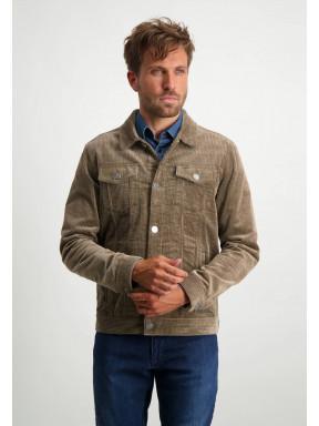 Corduroy-jacket-with-button-closure---sepia-plain