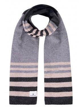 Gestreepte-sjaal-met-lamswol---zilvergrijs/donkerantraciet