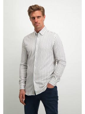 Modern-Classics-overhemd-met-strepen---wit/zilvergrijs