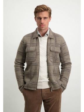 Modern-Classics-vest-in-overshirt-stijl---sepia/donkerbruin