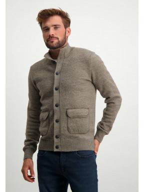Modern-Classics-vest-met-knoopsluiting---sepia-uni