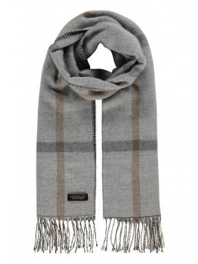 Modern-Classics-sjaal-met-ruiten---zilvergrijs/donkerantraciet