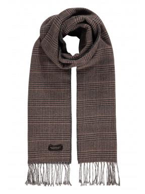 Modern-Classics-sjaal-met-franjes---sepia/donkerantraciet