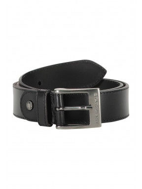 Belt-of-buffalo-leather---black-plain
