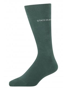 Effen-sokken-van-een-katoenmix---donkergroen-uni