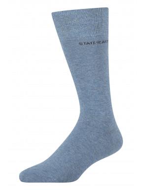Effen-sokken-van-een-katoenmix---middenblauw-uni