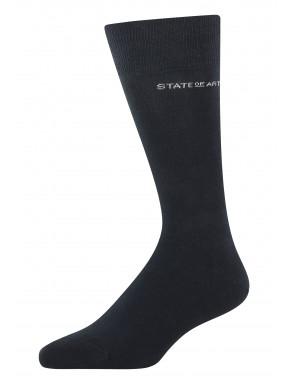 Effen-sokken-van-een-katoenmix---donkerblauw-uni