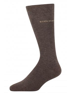 Effen-sokken-van-een-katoenmix---donkerbruin-uni