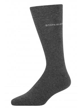 Effen-sokken-van-een-katoenmix---donkerantraciet-uni