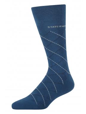 Sokken-met-ruitdessin---kobalt/middenblauw