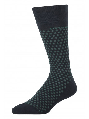 Jacquard-sokken-met-een-stippenpatroon---donkerblauw/donkergroen