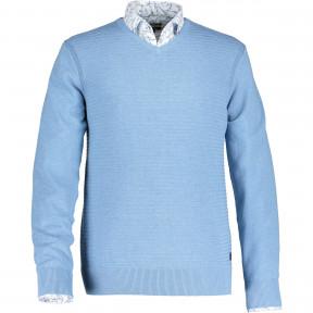 Melange-pullover-with-a-V-neck