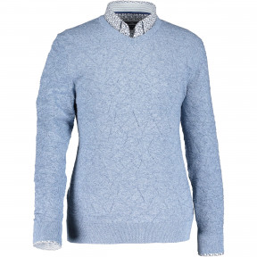 Fine-knit-pullover-with-V-neck