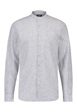 Overhemd-met-smalle-opstaande-kraag