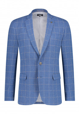 Checked-blazer-with-flap-pockets