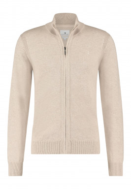 Cardigan-with-brand-logo