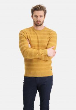 Pullover-mouliné-with-crew-neck