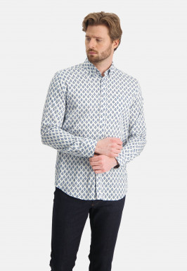 Overhemd-met-een-satijn-look