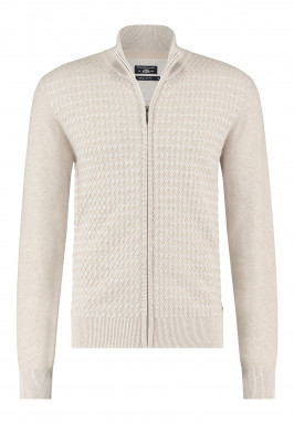 Cardigan-Plain-with-zipper-closure