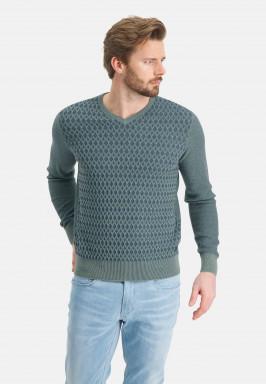 Fijngebreide-V-hals-trui