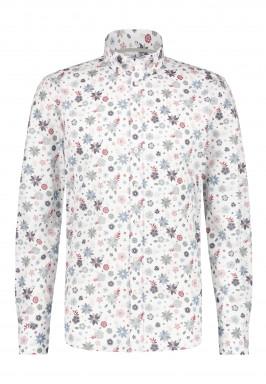 Stretch-overhemd-met-bloemenprint