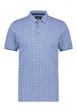Poloshirt,-Jersey,-kurzarm,-Druck