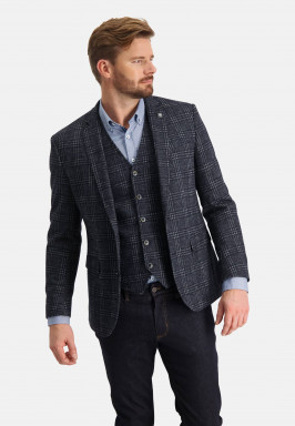Checked-blazer-with-2-button-closure