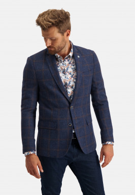 Modern-fit-blazer-checked