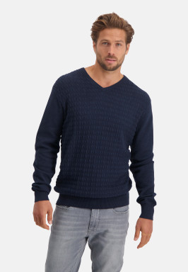 Pullover,-regular-fit,-V-Ausschnitt