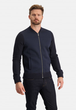 Bomber-style-cardigan-with-zipper