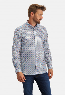 Regular-fit-shirt-with-chest-pocket