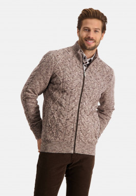 Cardigan-with-high-collar