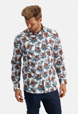 Overhemd-met-een-bloemenprint