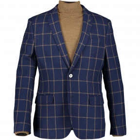 Check-blazer-with-slim-fit