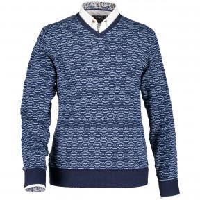 Cotton-pullover-jacquard