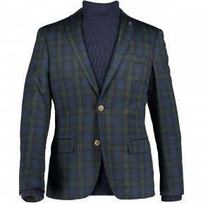 Checked-blazer-with-slim-fit