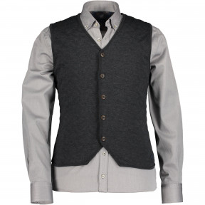 Knitted-gilet-with-padded-front