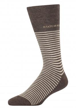Socken,-Streifen,-Baumwoll-Mix