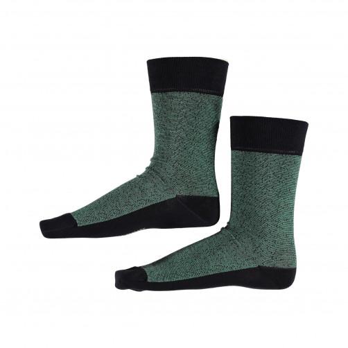 Socks-Striped---midnight/dark-lime