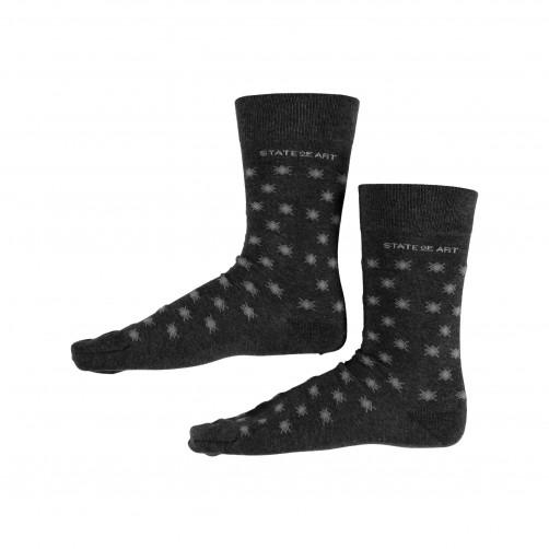 Socken,-Druck---dunkel-anthraz./silbergrau