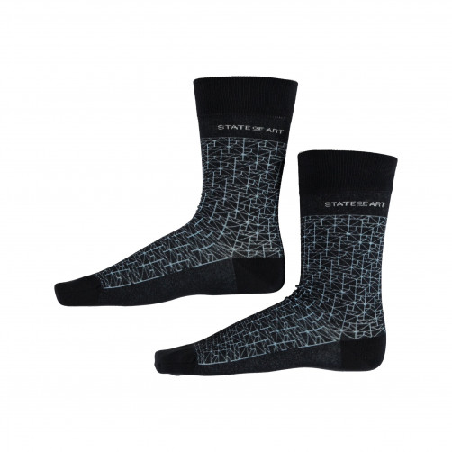 Socken,-Print---dunkelblau/wasserblau