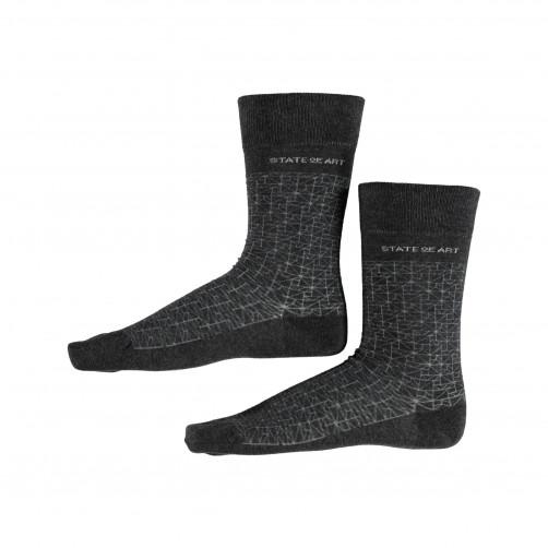 Socken,-Print---dunkel-anthraz./silbergrau