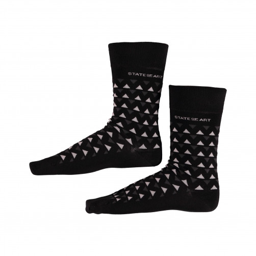 Socken,-Druck---schwarz/dunkel-anthraz