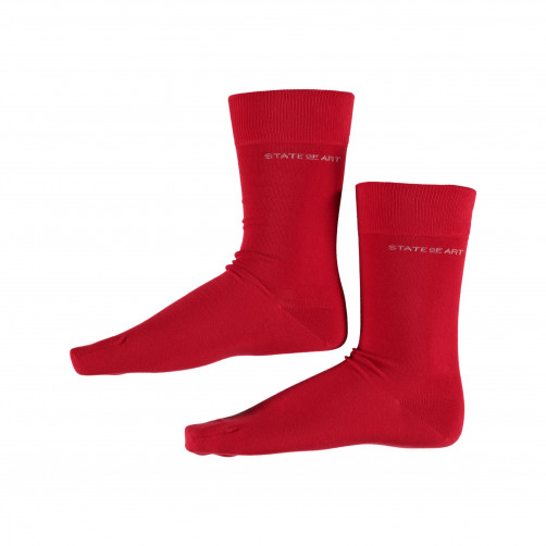 Socken,-uni---rot-uni