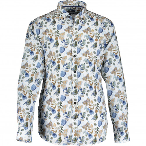 Shirt-with-a-butterfly-and-birdprint